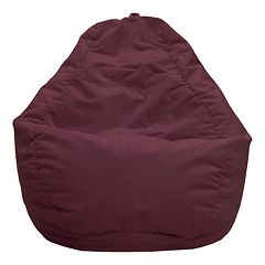 Large Teardrop Microfiber Faux-Suede Bean Bag Chair