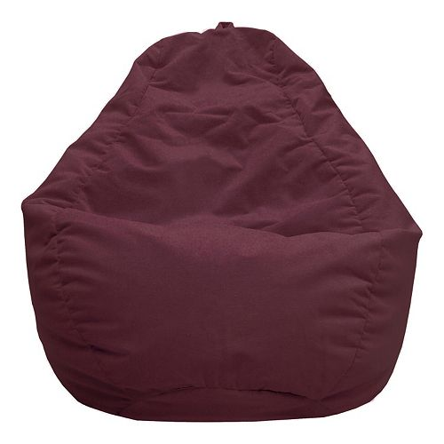 Large Teardrop Microfiber Faux Suede Bean Bag Chair