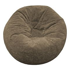 Extra Large Microfiber Faux-Suede Bean Bag Chair