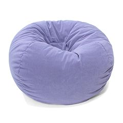 Small Microfiber Faux Suede Corduroy Bean Bag Chair