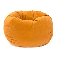 Small Microfiber Faux-Suede Corduroy Bean Bag Chair
