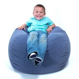 Medium Microfiber Faux-Suede Corduroy Bean Bag Chair