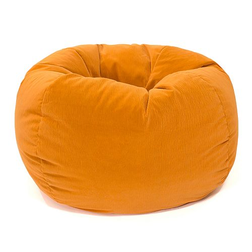 Medium Microfiber Faux Suede Corduroy Bean Bag Chair