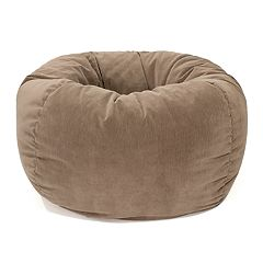Medium Microfiber Faux-Suede Corduroy Bean Bag Chair