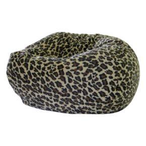 Small Safari Microfiber Faux-Suede Corduroy Bean Bag Chair