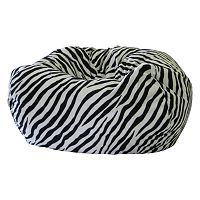 Small Safari Microfiber Faux-Suede Corduroy Bean Bag Chair