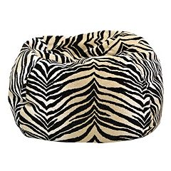 Medium Safari Microfiber Faux-Suede Corduroy Bean Bag Chair