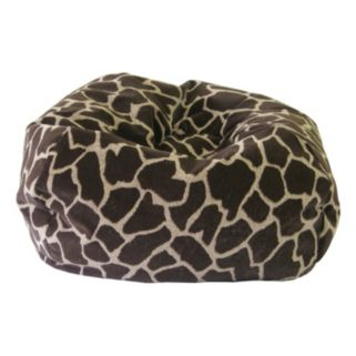 Medium Safari Microfiber Faux-Suede Corduroy Bean Bag Chair