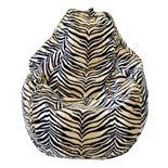 Large Teardrop Safari Microfiber Faux-Suede Corduroy Bean Bag Chair