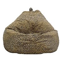 Large Teardrop Safari Microfiber Faux-Suede Corduroy Bean Bag Chair