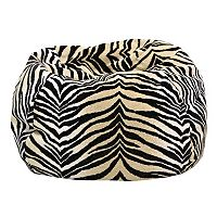 Extra Large Safari Microfiber Faux-Suede Corduroy Bean Bag Chair