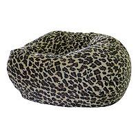 Extra Large Safari Microfiber Faux-Suede Corduroy Bean Bag Chair