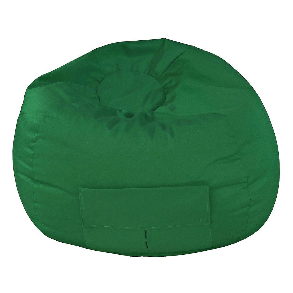 Medium Cargo Pocket Microfiber Bean Bag Chair