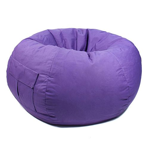 Enjoyable Extra Large Cargo Pocket Microfiber Bean Bag Chair Theyellowbook Wood Chair Design Ideas Theyellowbookinfo