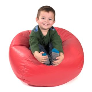 Small Faux-Leather Bean Bag Chair