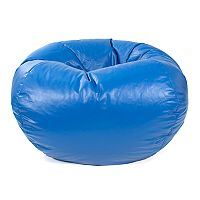Small Faux-Leather Bean Bag Chair