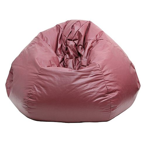 Small Faux Leather Bean Bag Chair
