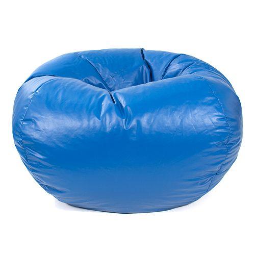 Medium Faux-Leather Bean Bag Chair