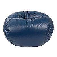 Medium Faux-Leather Bean Bag Chair