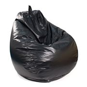 Large Teardrop Faux-Leather Bean Bag Chair