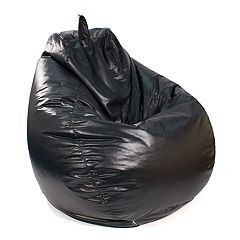 Large Teardrop Faux Leather Bean Bag Chair