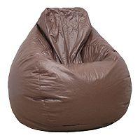 Large Teardrop Faux-Leather Bean Bag Chair