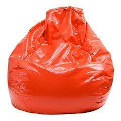 Large Teardrop Vinyl Bean Bag Chair