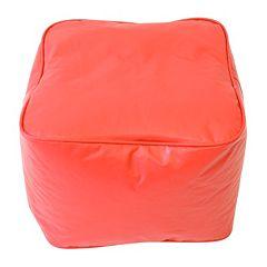 Small Vinyl Bean Bag Ottoman