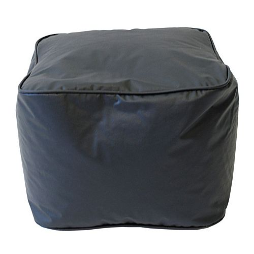 Medium Vinyl Bean Bag Ottoman