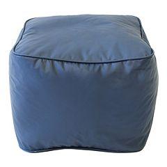 Medium Vinyl Bean Bag Ottoman