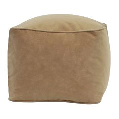 Medium Microfiber Faux-Suede Bean Bag Ottoman