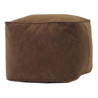 Medium Microfiber Faux-Suede Bean Bag Ottoman