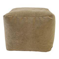 Small Microfiber Corduroy Bean Bag Ottoman