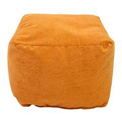 Medium Microfiber Corduroy Bean Bag Ottoman