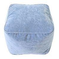 Medium Microfiber Corduroy Bean Bag Ottoman