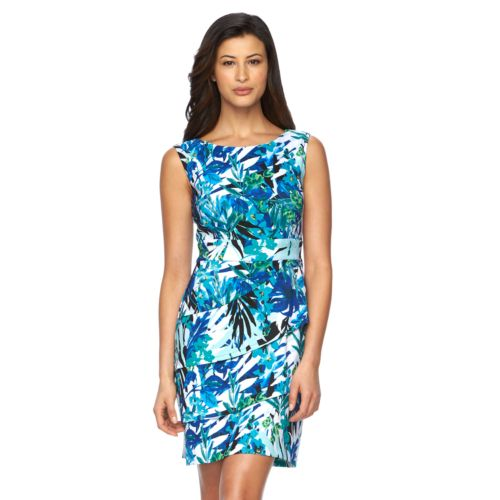 Women's Connected Apparel Floral Tiered Sheath Dress