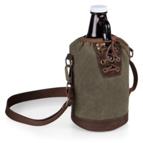 Legacy Growler Tote with 64-oz. Glass Growler
