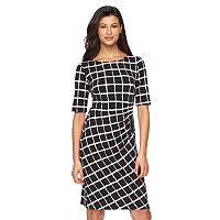 Women's Connected Apparel Pintuck Sheath Dress