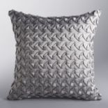 Simply Vera Vera Wang Moonstone Origami Tile Throw Pillow
