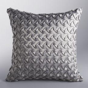 Simply Vera Vera Wang Moonstone Origami Tile Throw Pillow