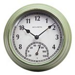 "AcuRite 8.5"" Distressed Indoor / Outdoor Wall Clock & Thermometer"