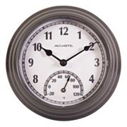 AcuRite 8.5' Indoor / Outdoor Wall Clock & Thermometer