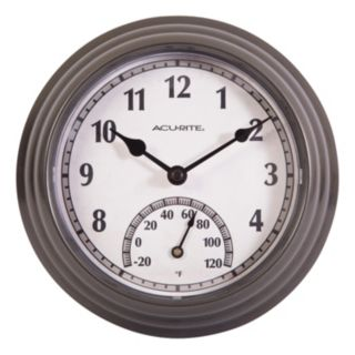 """AcuRite 8.5"""" Indoor / Outdoor Wall Clock & Thermometer"""
