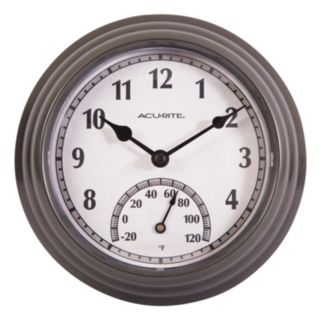 "AcuRite 8.5"" Indoor / Outdoor Wall Clock & Thermometer"