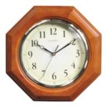 "Chaney 12"" Octagon Wood Wall Clock"