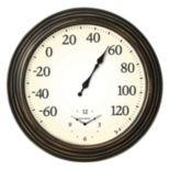 "AcuRite 16"" Indoor / Outdoor Wall Clock & Thermometer"