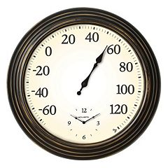 AcuRite 16' Indoor / Outdoor Wall Clock & Thermometer