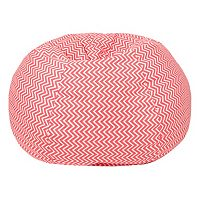 Small Chevron Bean Bag Chair