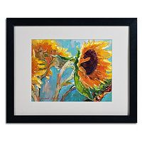Trademark Fine Art Sunflower 11 Black Framed Wall Art