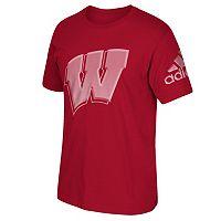 Men's adidas Wisconsin Badgers Linear Depth Tee